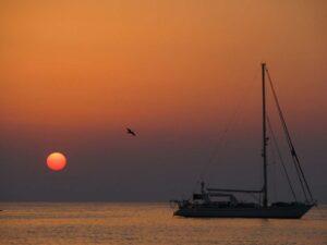 Mare e tramonto di Cefalu