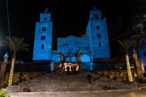 Il Duomo di Cefalù a Natale